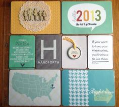 2013 Project Life Title Page by BeckyCreates at Studio Calico