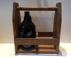 Like many of Keggle Brewing's products, these are handcrafted by a fellow home brewer who puts enough time, care, and craftsmanship into each growler holder that your home brew almost feels proud to b