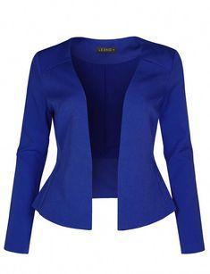 Womens Long Sleeve Fully Lined Collarless Tuxedo Blazer Jacket Blazer Outfits Casual, Blazer Fashion, Kind Und Kegel, Casual Office Wear, Casual Wear, Stylish Office, Printed Blazer, Mode Outfits, Blazer Jacket