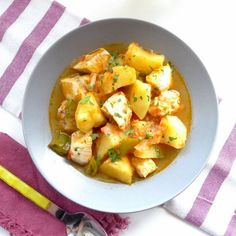 Chunks of white tuna simmer with potatoes and peppers in this traditional Basque summer stew.