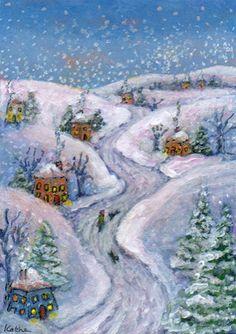 'Snowed In' art by Kathe Soave winter snow
