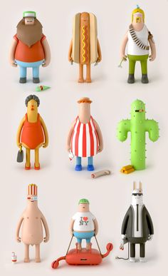 Yum Yum es un estudio de diseño, formado por los ingleses Beth Algieri y Jonny Plummer que se especializan en animación, diseño e ilustración, aqui unos toys que realizaron de sus ilustraciones, su twitter por si quieren seguirlos @YumYumLondon