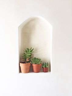 We are about 3/4 of the way done with remodeling the back half of our house and it's official: we've gone bananas for arched niches. My (amazing) contractor just starts to laugh as I give him this crazy look and then ask him to put *another* arched niche into one of the walls that he has just...: