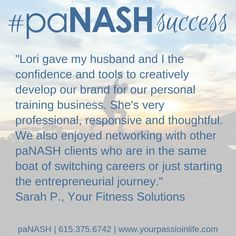 Husband and wife team establish successful fitness business after working with paNASH career coaching. Switching Careers, Career Coach, Feeling Stuck, Coaching, Give It To Me, Husband, Success, Passion, Thoughts