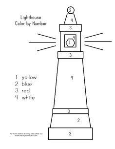Children's activity and craft templates. Applique Templates, Applique Patterns, Lighthouse Keepers Lunch, Lighthouse Painting, Painting Templates, Color By Numbers, Toilet Roll Holder, Diy Projects, Printing