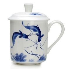 Get A Nice Drink With Jingdezhen Porcelain Chinese Tea Cup. Tea For One, My Tea, Tea Cup With Lid, Chinese Tea Cups, Dragon Tea, Royal Tea, Chinese Dragon, Tea Mugs, Porcelain