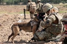 There's something about a soldier with a dog that just touches my heart.