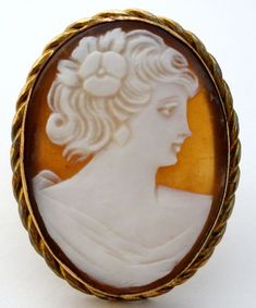 Vintage Hand Carved Shell Cameo Pendant Brooch Pin Gold Filled 12K GF Marbro | Jewelry & Watches, Vintage & Antique Jewelry, Fine | eBay!