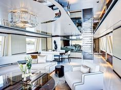 A luxury yatch alway needs a luxurious lighting fixture. Find the perfect lamp for your interior design project at luxxu.net  #superyachts #yatch #luxury #luxuryfurniture #lighting #lightingdesign #interiordesign #decor