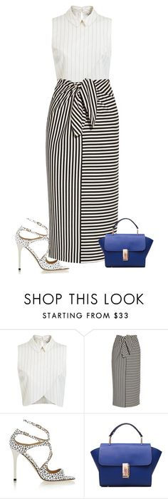 """""""Untitled #596"""" by l-amisa ❤ liked on Polyvore featuring Miss Selfridge, TIBI, Jimmy Choo, women's clothing, women, female, woman, misses and juniors"""