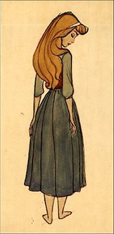 Concept art for Aurora in The Sleeping Beauty