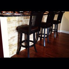 Stone under bar area - totally completes the look of the room! work by Jerry of Classic Woodwork