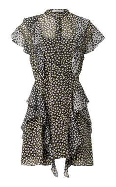 Poetic Rebel Silk Georgette Dress by Dorothee | Moda Operandi