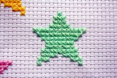 Ideas Crochet Christmas Star Cross Stitch For You can cause very special patterns for textiles with cross stitch. Cross stitch types may almost amaze you. Cross stitch beginners may make the types they need without difficulty. Tiny Cross Stitch, Xmas Cross Stitch, Beaded Cross Stitch, Cross Stitch Alphabet, Simple Cross Stitch, Cross Stitching, Cross Stitch Embroidery, Cross Stitch Patterns, Knitting Patterns