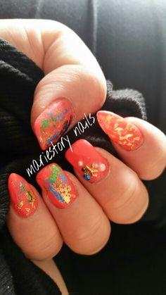 Sunshine nails by @ mariestory nails