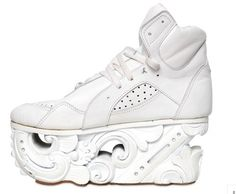 info for 1e8ab 646ff KTZ 80MM calf   wood sculptured sneakers  white  Shoe Show, Quirky Fashion