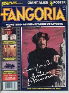 Fangoria Magazine 3 CHRISTOPHER LEE The Brood GIANT ALIEN POSTER Kolchak: Night Stalker ARABIAN ADVENTURE December 1979 (Fangoria Magazine) by Bob Martin http://www.amazon.com/dp/B00AOUZWTU/ref=cm_sw_r_pi_dp_qeCWtb1GG692Z339