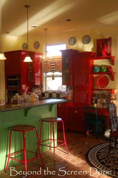 http://www.beyondthescreendoor.com201401revisiting-a-red-kitchen-and-a-curtain-makeover.html