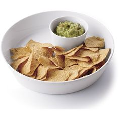 Crate & Barrel 2-Piece Chip and Dip Set ($16) ❤ liked on Polyvore featuring home, kitchen & dining, food, food and drink, comida, food & drink, fillers, dining and crate and barrel