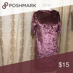 Velvet t shirt dress Blush pink velvet t shirt dress fits medium/large Dresses Mini