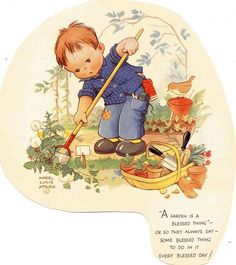 Mabel Lucie Attwell -Gardening