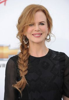 Wish I could get my hair this long!  I love this braid!