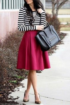Stripes and fuschia