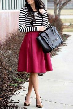 Stripes and fuschia
