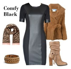 Comfy Black by tubino-skirts-dresses on http://tubino.nl/shop/kokerjurken/coco-black-dress-2/  featuring mode, Thierry Mugler, GUESS, Frye and River Island