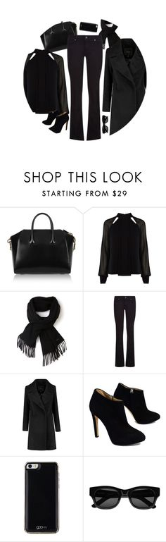 """* d a r k *"" by onemonday ❤ liked on Polyvore featuring Givenchy, Karen Millen, Lacoste, Paige Denim, Giuseppe Zanotti, Gooey, Sun Buddies, women's clothing, women's fashion and women"