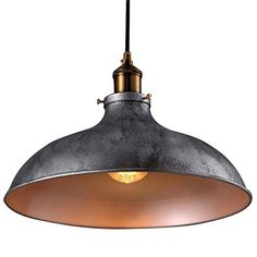 BayCheer HL371906 Industrial Vintage Style Lid Shaped Pendant Lighting in Antique Silver Pendant Light Lamp Chandelier with 1 light, http://www.amazon.com/dp/B01FLSXLYM/ref=cm_sw_r_pi_n_awdm_sz0CxbX05X2PK