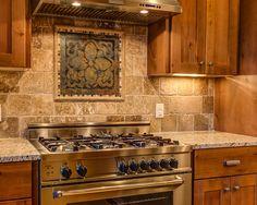 Rustic Contemporary - contemporary - kitchen - austin - by Legacy DCS Kitchen Redo, Rustic Kitchen, Kitchen Backsplash, Kitchen Dining, Kitchen Remodel, Rustic Backsplash, Stone Backsplash, Backsplash Ideas, Tile Ideas