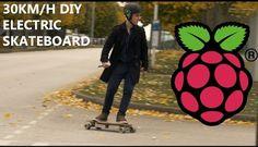 Así luce el skateboard eléctrico potenciado por Raspberry Pi - http://www.hwlibre.com/asi-luce-skateboard-electrico-potenciado-raspberry-pi/