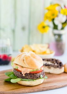 Stuffed Black Bean Burger - Mommyhood's Diary #KikkomanSabor