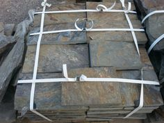 Schieferplatten gesaegt, aus Polen Slate Plates, Poland