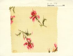 French simulated warp floral print on cotton. 1895. Unknown manufacturer.
