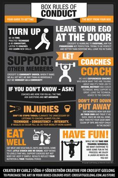 CROSSFIT - BOX RULES OF CONDUCT by Carlz Söderström, via Behance