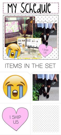 """My Schedule: Late Edition (Draft Set)"" by beautyguru911 ❤ liked on Polyvore featuring art"