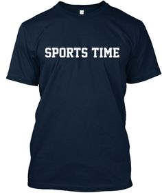 Sports Time T Shirt New Navy T-Shirt Front