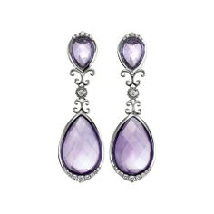 Arabesque Sterling Silver and Amethyst Earrings from Hamilton Jewelers on Catalog Spree, my personal digital mall.