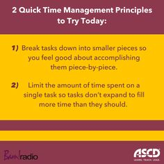 Learn strategies to get more done and feel more accomplished. Listen to this podcast for ideas. School Leadership, Professional Development, Time Management, Teacher Resources, Productivity, Life Quotes, Classroom, Student, Teaching