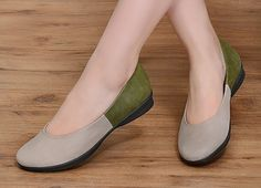 2016 New Leather Shoes Flat Shoes Leather Flat Slip Ons by HerHis