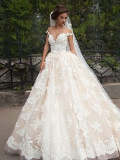 Vestidos De Novia 2016 Ball Gown Wedding Dresses Sheer Nude Tulle Crew Neckline Chapel Train Lace Bridal Gowns Inspired by Millanova 2016 Dress Ball Gown Wedding Dresses Bridal Dress Gown Online with $212.56/Piece on Yahuifang2016's Store | DHgate.com