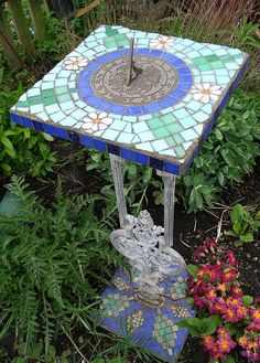 Mosaic work+Sundial ! This is beautifully done! / Time for some sun by bryanilona, via Flickr.