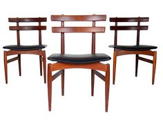 Mid Century Modern Dining Chairs Poul Hundevad Chairs Kai Kristiansen Chairs Solid Rosewood Chairs Atomic Dining Chairs Danish Modern Chairs