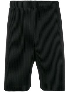 Pleats Please Issey Miyake Homme PlissÉ Issey Miyake Pleated Shorts - Black Issey Miyake Men, Pleated Shorts, Women Wear, Mens Fashion, Pants, Fashion Design, Clothes, Black, Style