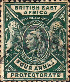 Zanzibar 1895 Queen Victoria India Overprint SG 13 Fine Used Scott 17 Other Zanzibar Stamps HERE