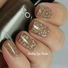 Shelby Lou Nails - Stamping Saturday: Henna-Mehndi Inspired - Picture Polish Cherish - MoYou London Explorer 22 - Zoya Emilia