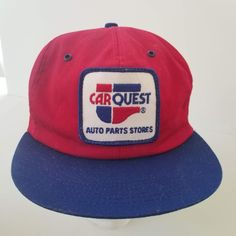 53476b021a Vintage 80s Carquest Auto Parts Patch Trucker Hat Snapback Cap K-Products  Made in USA
