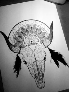 Image result for ideas for drawing cow skulls Flash Art Tattoos, Dope Tattoos, Unique Tattoos, Body Art Tattoos, Sleeve Tattoos, Tattos, Bull Skull Tattoos, Bull Skulls, Cow Skull